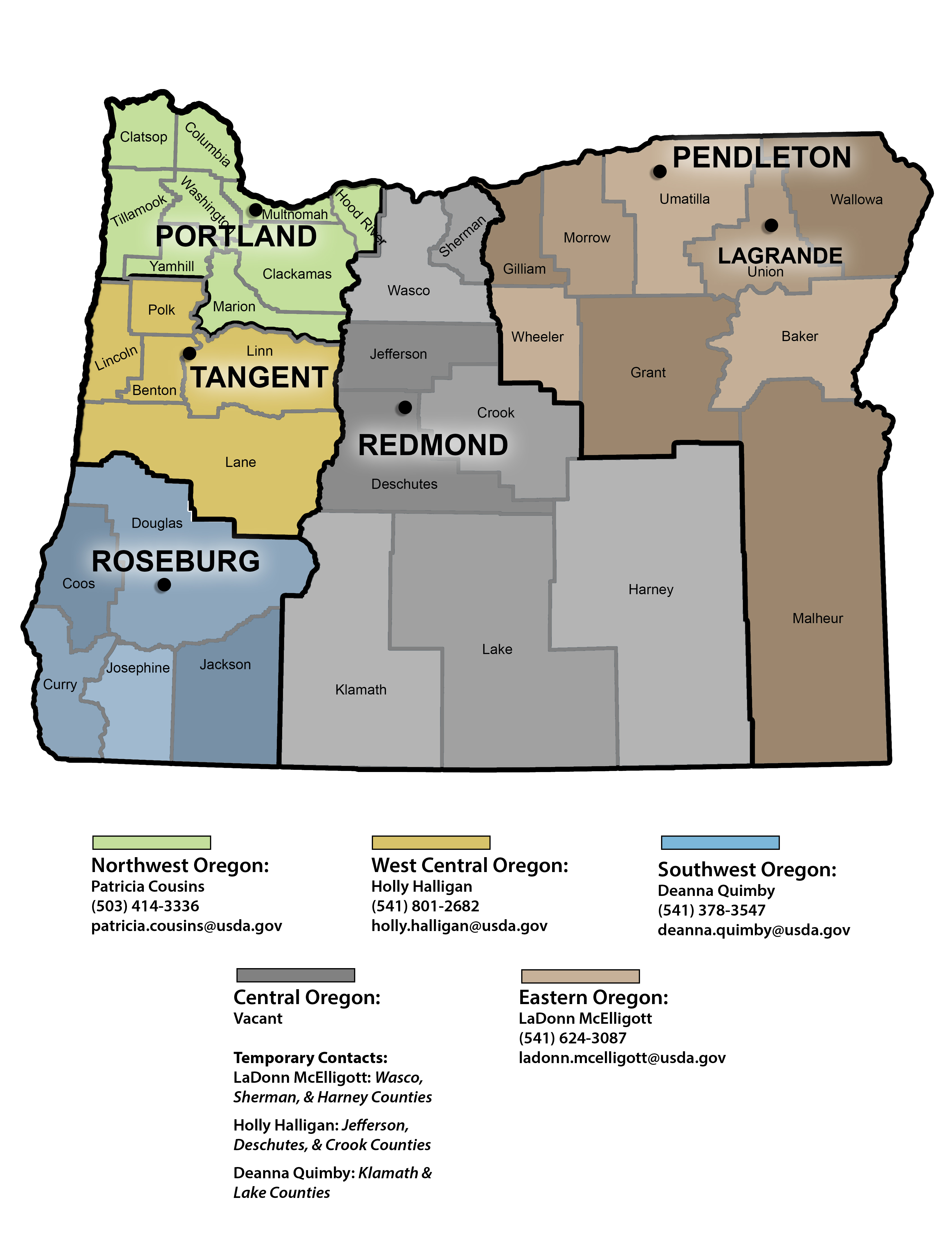 Photo of Community Programs service areas in Oregon