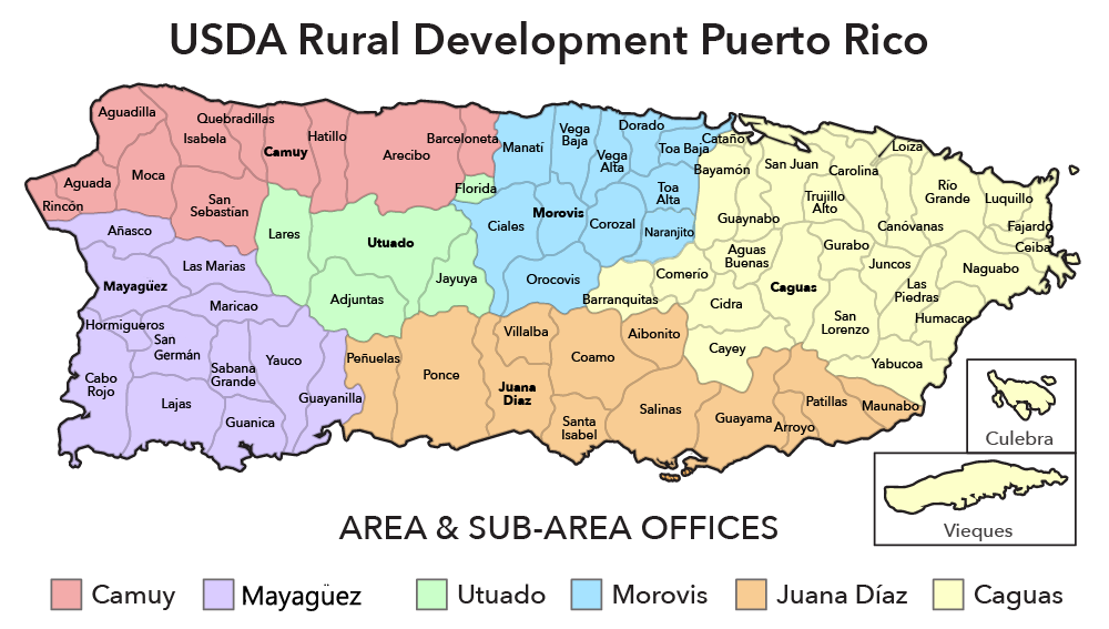 Puerto Rico Contacts USDA Rural Development - Puerto rico maps