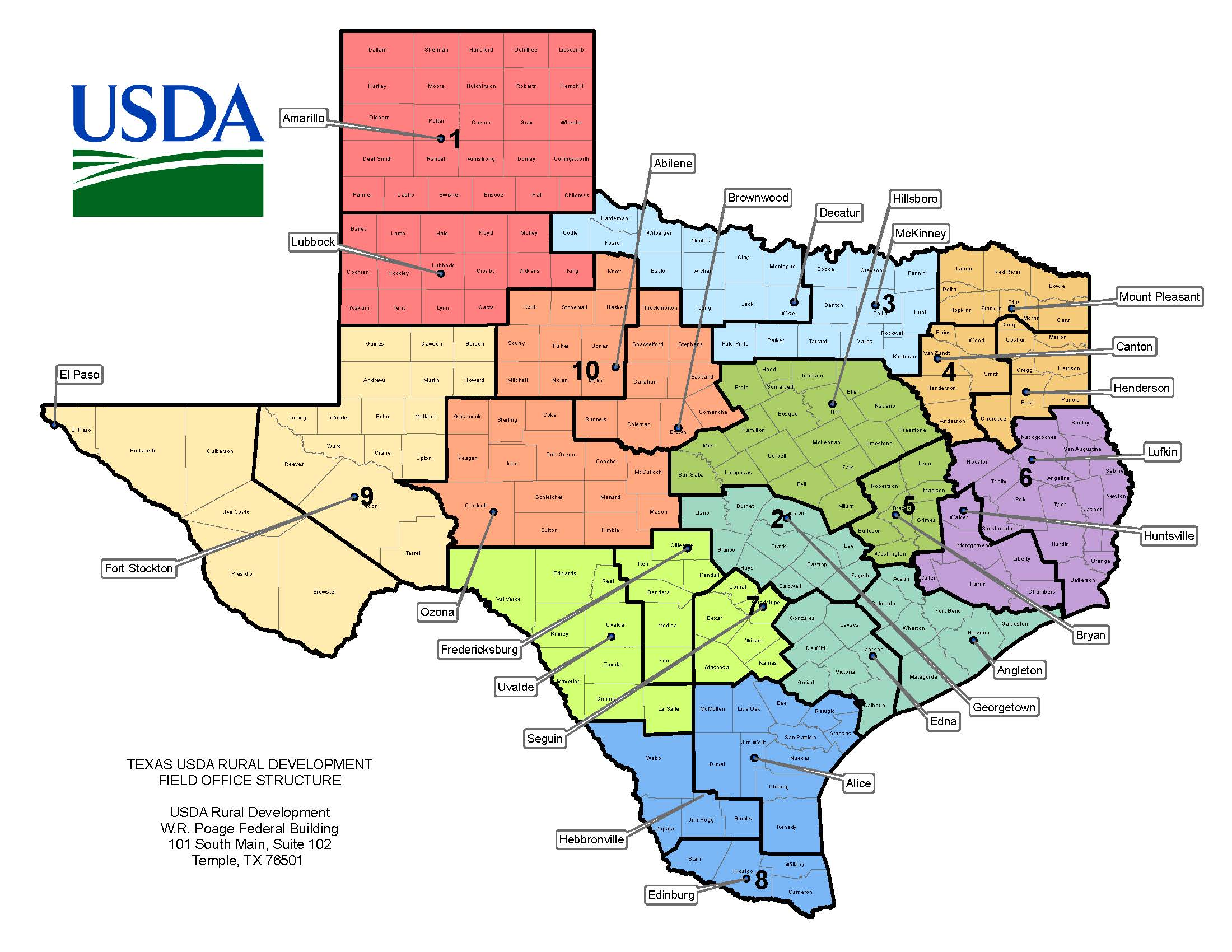 Texas Contacts USDA Rural Development - Rural development loan map oklahoma