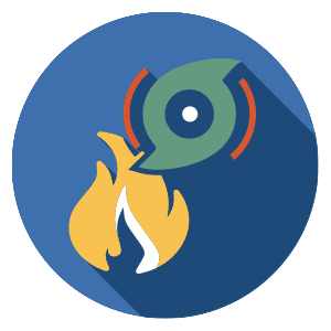 Icon image of fire and hurricane