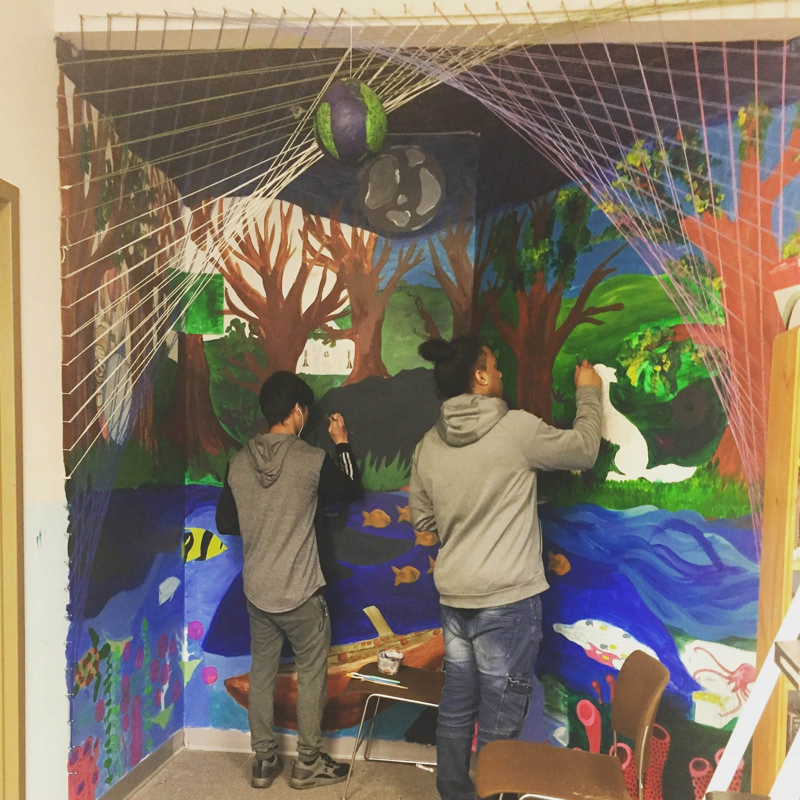 Ledyard Students creating a new world for themselves