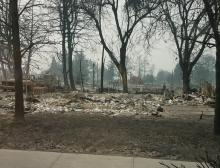 Rose Court Apartments in Phoenix, Ore., burned down during the 2020 Oregon wildfires.
