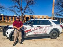 Seymour ISD in front of their new cruiser