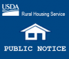 This is a Rural Housing Service Public Notice thumbnail icon.